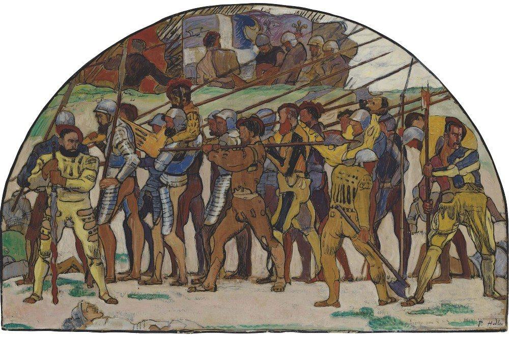 """""""Rückzug von Marignano"""" (Bild: © Ferdinand Hodler - wiki.org)"""
