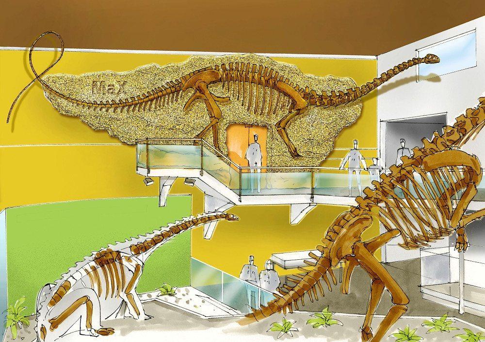 Im Sauermuseum treffen Klein und Gross auf Dinosaurier. (Bild: © sauriermuseum.ch)