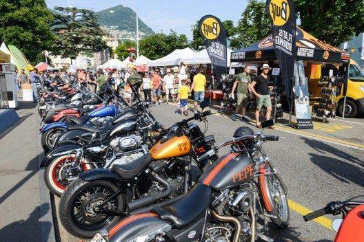 Die Schweizer Harley Tage in Lugano (Bild: © Stefano Ember - shutterstock.com)