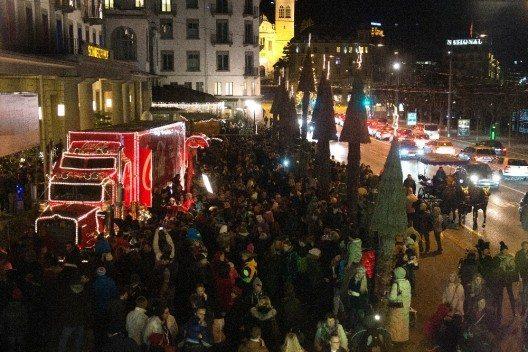Der legendäre Coca-Cola Weihnachtstruck kommt wieder nach Luzern.