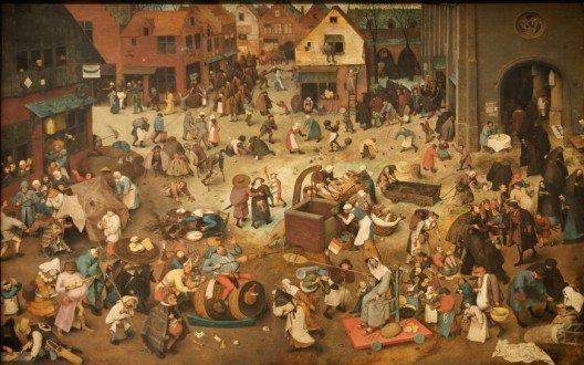 Ölgemälde Pieter Bruegels des Älteren von 1559 zum Thema Karneval (Bild: © Pieter Brueghel the Elder, Wikimedia, GNU)