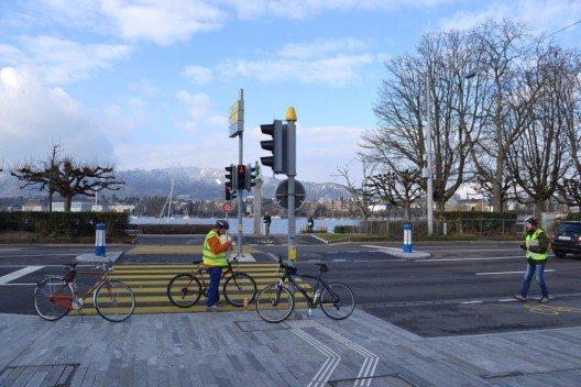 Am 6. März 2016 wurde die Strecke des Zürich Marathon von Roger Kaufmann, dem einzigen international anerkannten Streckenvermesser der Schweiz, neu vermessen. (Bild: © Zürich Marathon)