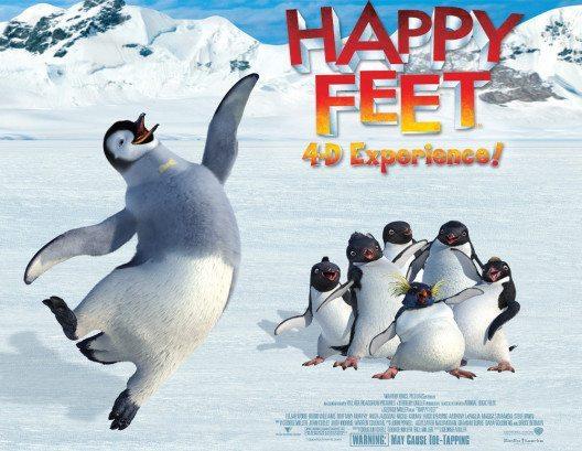 """Die brandneue 3D-Präsentation von """"Happy-Feet"""" im Château-Theater. (Bild: CONNY-LAND)"""