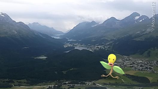 Pokémons auf Muottas (Bild: Engadin St. Moritz Mountains)