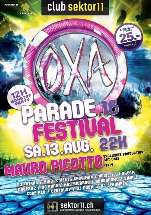 Am 13. August findet im sektor11 in Zürich-Oerlikon eine OXA-Remember Party statt. (Bild: © Hannibal Events)