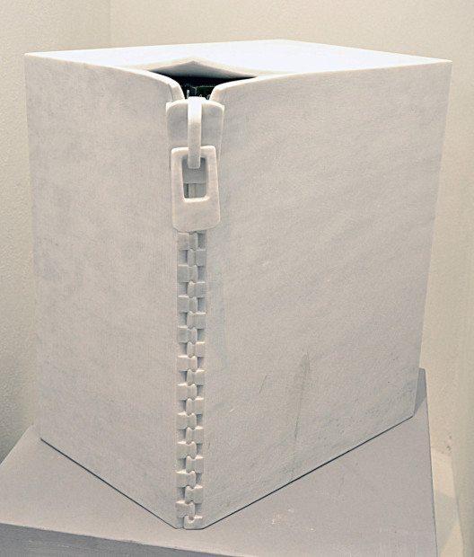 Galleria Duomo Carrara, Emiliano Barattini: Ermetico IV, statuary marble, 42x15x30cm, 2013 (© Contemporary Art Fair Zurich, Galleria Duomo Carrara, Emiliano Barattini, www.art-zurich.com)