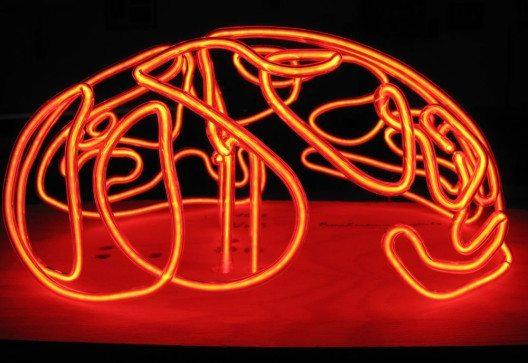 Roland Ammann: use it or loose it, Neon Systeme von Hand mittels Feuer gebogen, L 37cm, B 30 cm, H 18 cm, 2010 (© Contemporary Art Fair Zurich, Roland Ammann, Roland Ammann, www.art-zurich.com)