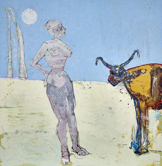 Galerie Wahrenberger, John Kiki: Daphne, Acryl auf Leinwand, 204x192 cm, 2015 (© Contemporary Art Fair Zurich, Galerie Wahrenberger, John Kiki, www.art-zurich.com)