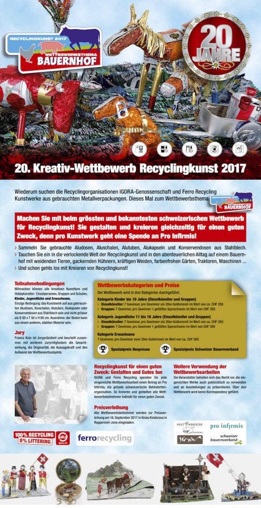20. Kreativ - Wettbewerb Recyclingkunst 2017 (Bild: ©IGORA / Ferro Recycling )