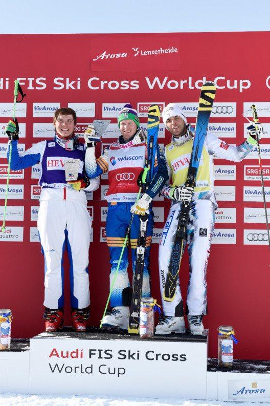 Die glücklichen Gewinner des ersten Weltcups in Arosa