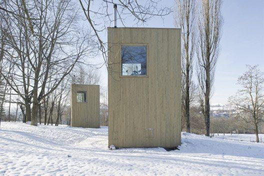 5 pavillons dans le parc du Windig (Bild: © Jérôme Humbert/Prix Lignum 2015)