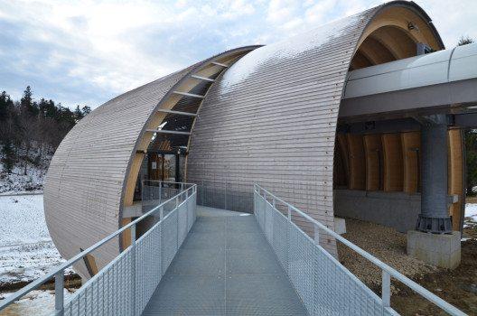 Neubau Seilbahnstationen Weissenstein (Bild: © Büro Kummer, Solothurn/Prix Lignum 2015)