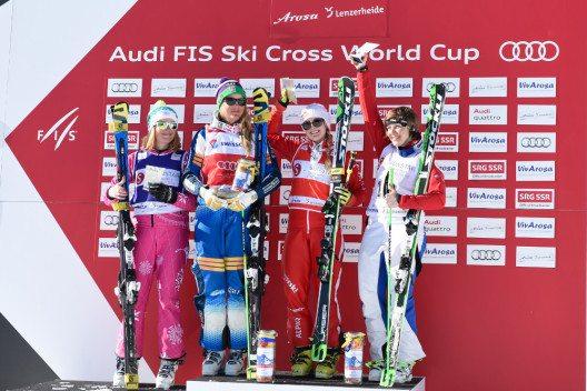 Die Siegerinnen des zweiten Weltcup-Rennens