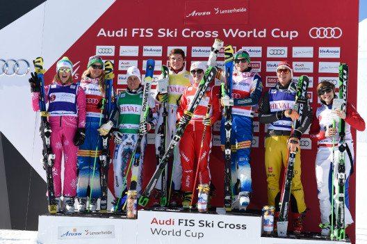 Die SiegerInnen des zweiten Weltcup-Rennens in Arosa Lenzerheide