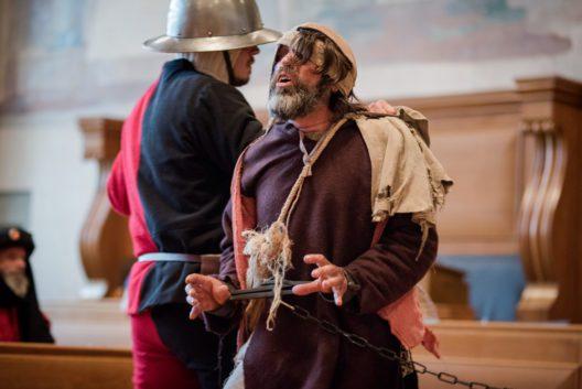 Mittelalterliche Gerichtsverhandlung